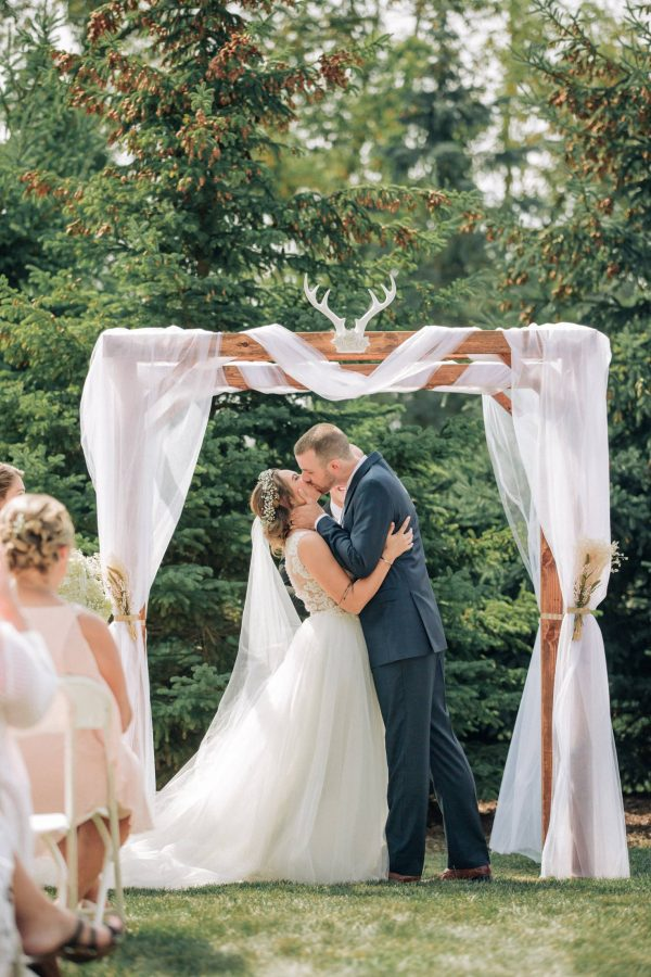 41 Kallee And Chris Wedding Ceremony First Kiss Visi Productions Photography Cinema